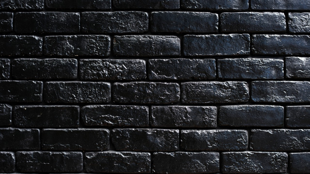 wall, bricks, black, paint wallpapers