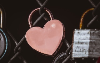 lock, heart, pink wallpapers