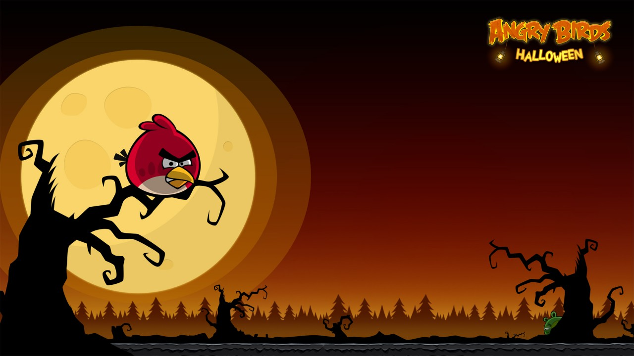 Angry Birds Halloween,  iphone wallpapers