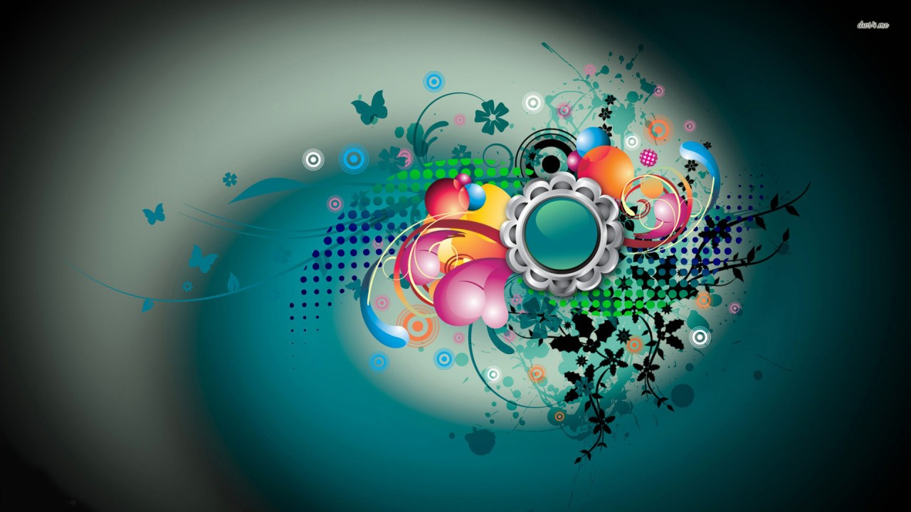 Collide, circle, dot, sparkle, star, butterfly, swirl, vector wallpapers
