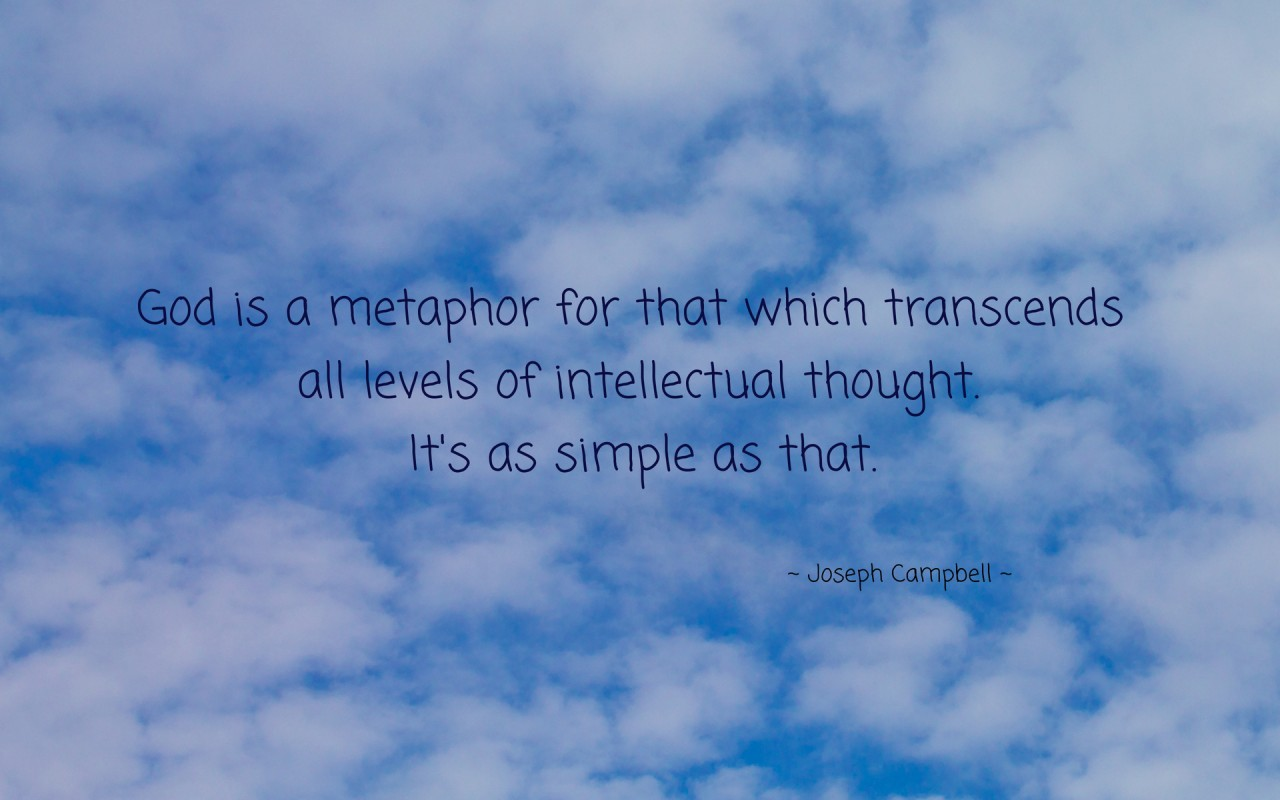 God is a metaphor for ..., quote, quotes, thought, artistic wallpapers