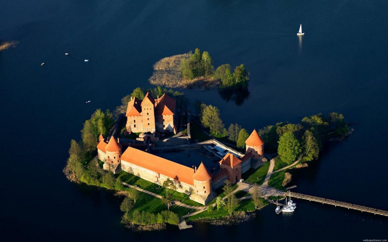 Trakai, castle, landscape wallpapers