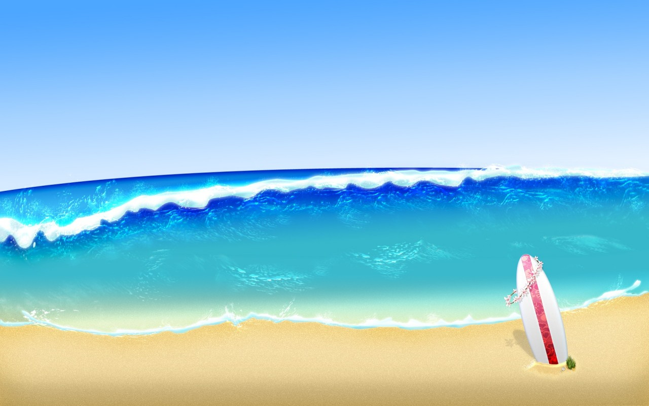 Surf Up Animated Summer Nature Wallpapers Surf Up