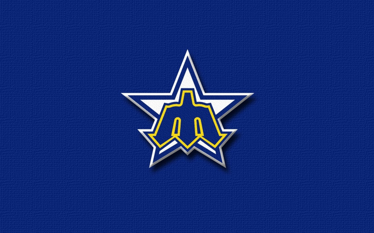 Seattle Mariners Old Logo, baseball, retro, sports wallpapers