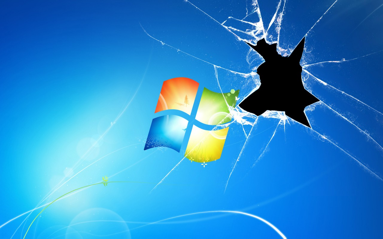Windows 7 Broken,  glass wallpapers