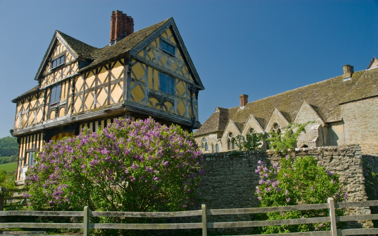 Stokesay Castle Shropshire, scenic wallpapers