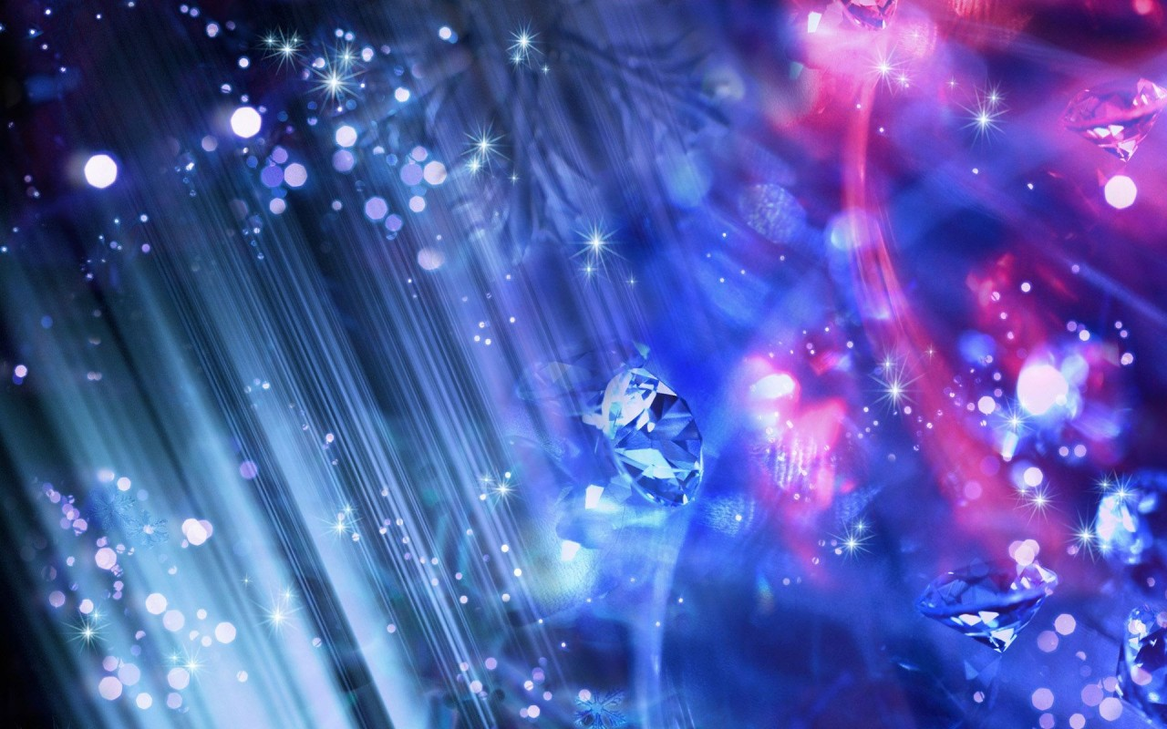 Sparkling crystals, digital-art wallpapers