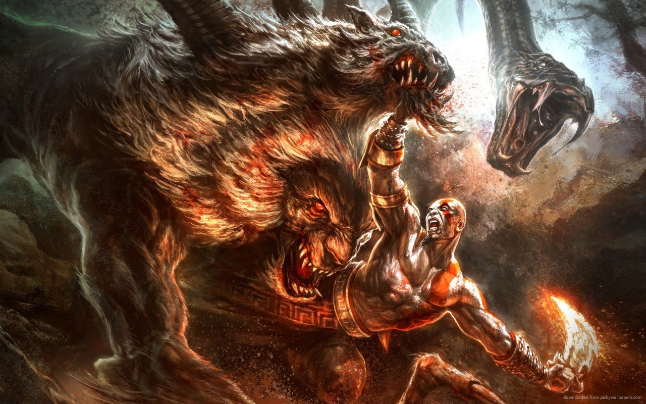 God Of War 3  fight, games wallpapers