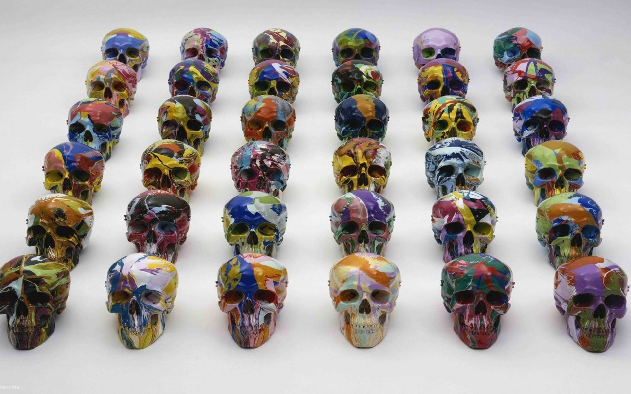 Painted Skulls, artistic wallpapers