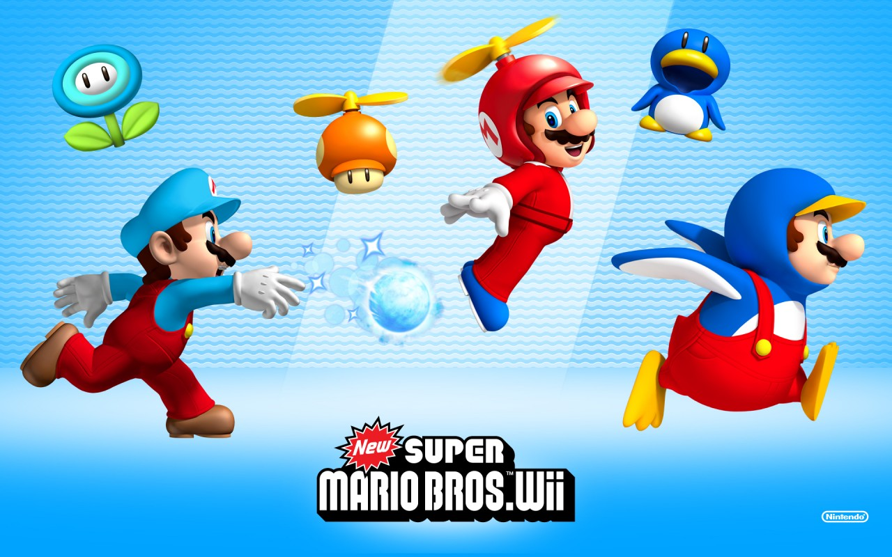 New Super Mario Bros Wii, kids wallpapers