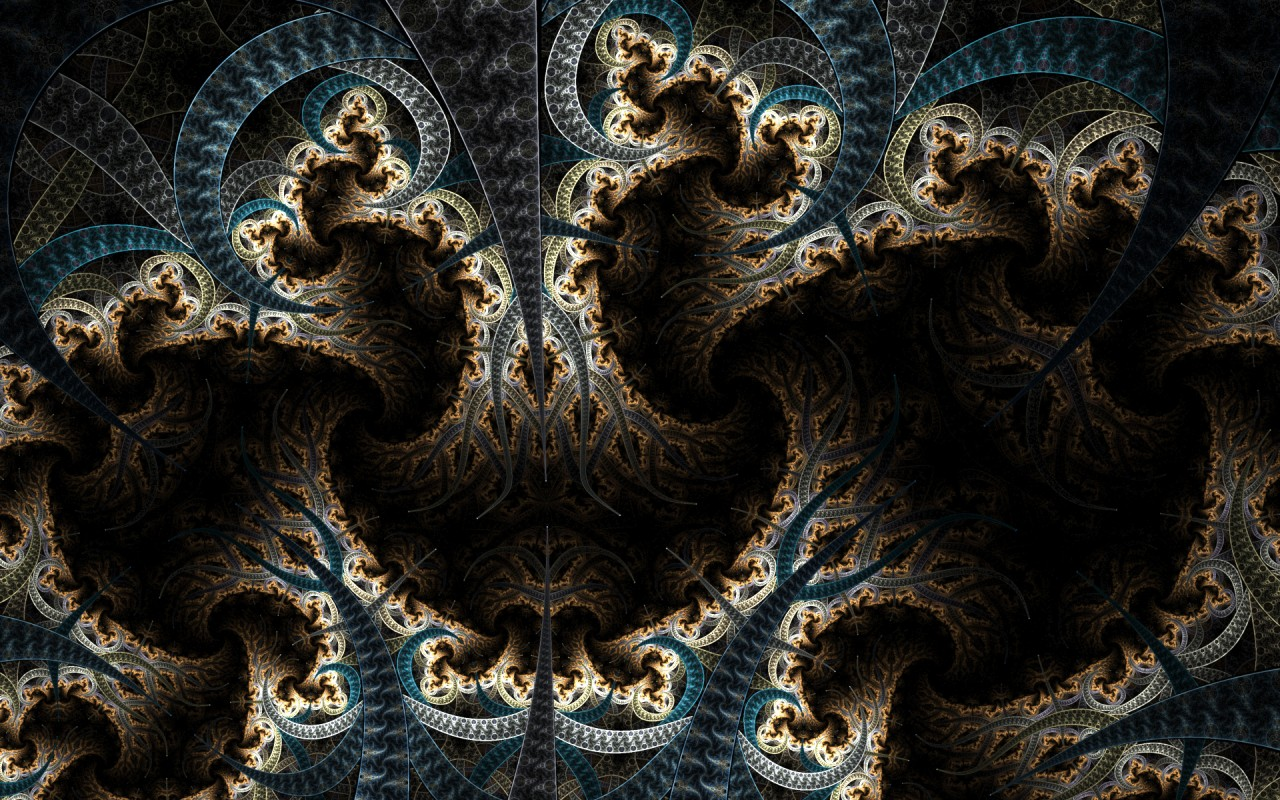 Fractal abyss, abstract wallpapers