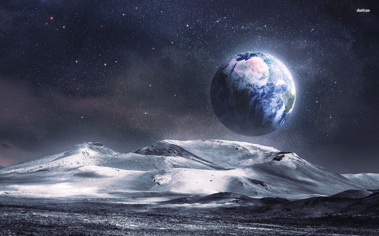Earth From The Moon Fantasy Wallpapers Earth From The Moon Fantasy Stock Photos