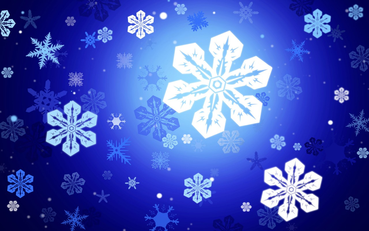 Snowflakes, digital-art wallpapers
