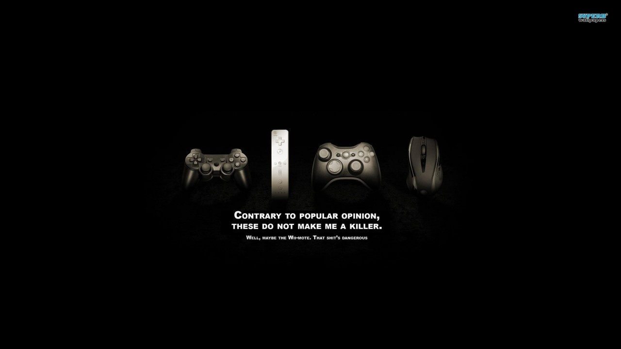 Game controllers, xbox, playstation, mouse, wii, funny wallpapers