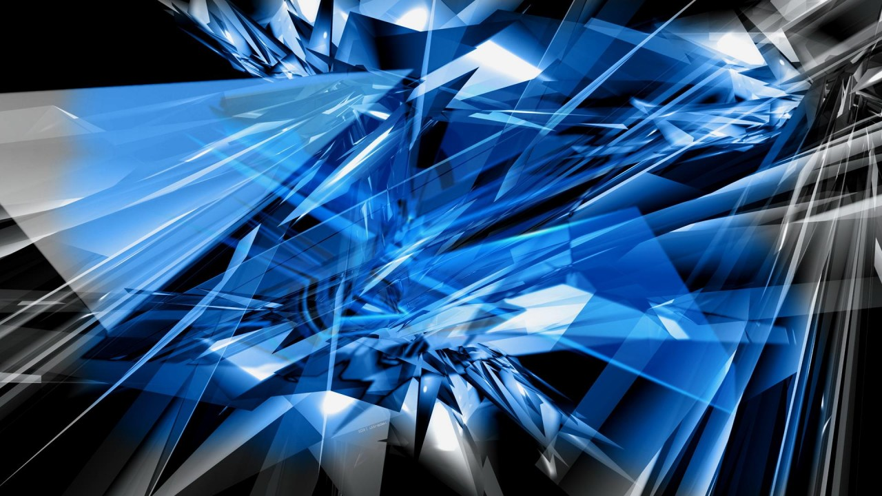 Glass Abstract Design Blue Wallpapers Glass Abstract