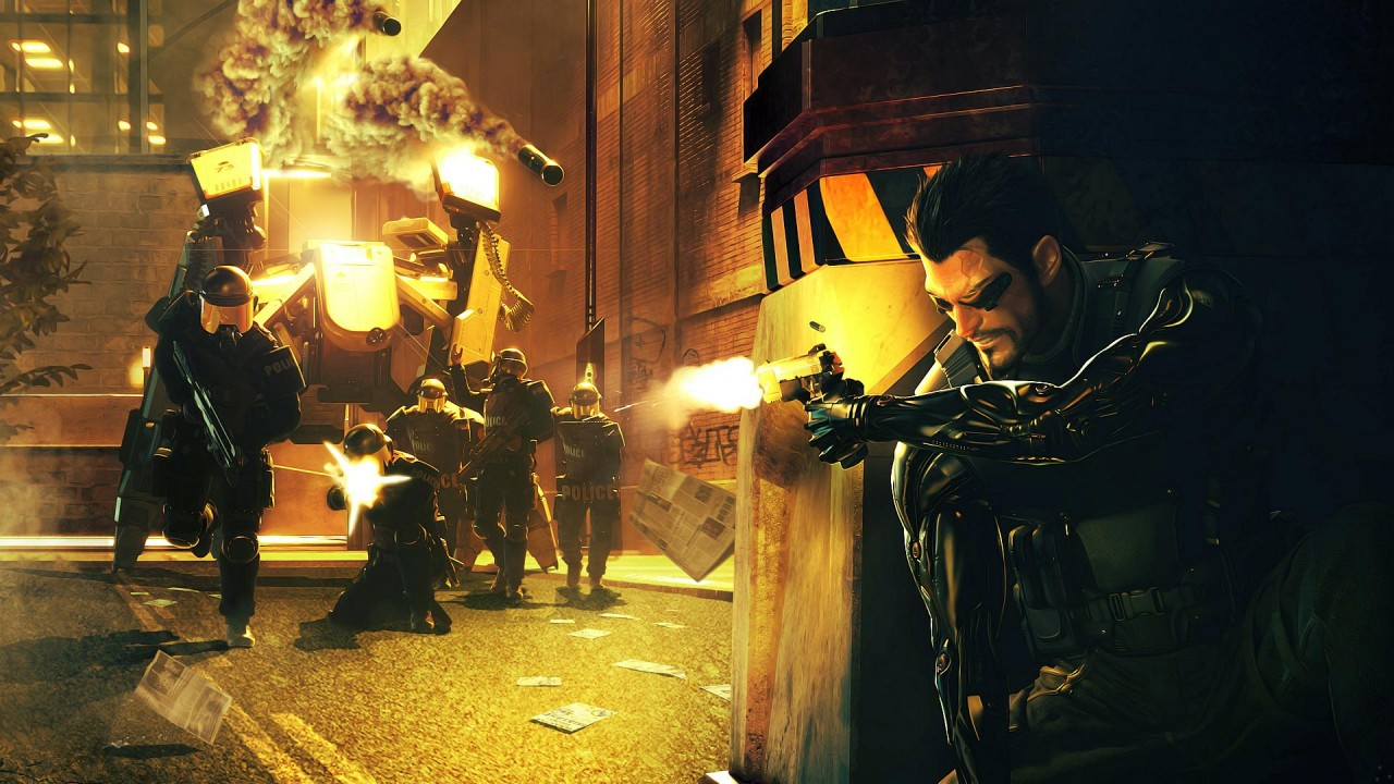 Deus Ex Human Revolution, battle, tanks wallpapers