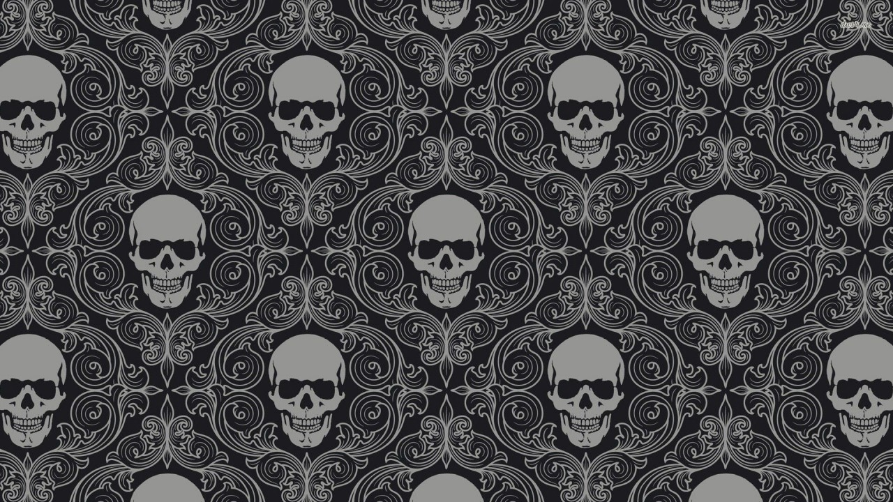 Vintage skull pattern, vector wallpapers