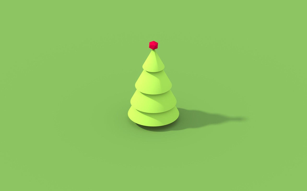 Christmas tree, merry christmas, minimalistic wallpapers