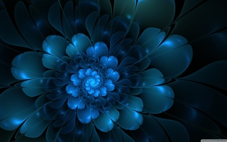 Blue Flower Abstract, flowers wallpapers