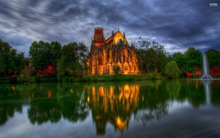 Lakeside catedral, iglesia, mundo wallpapers