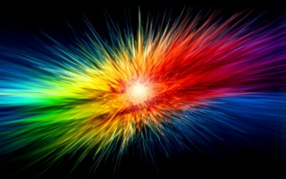 Colour burst, rainbow, spike, abstract wallpapers