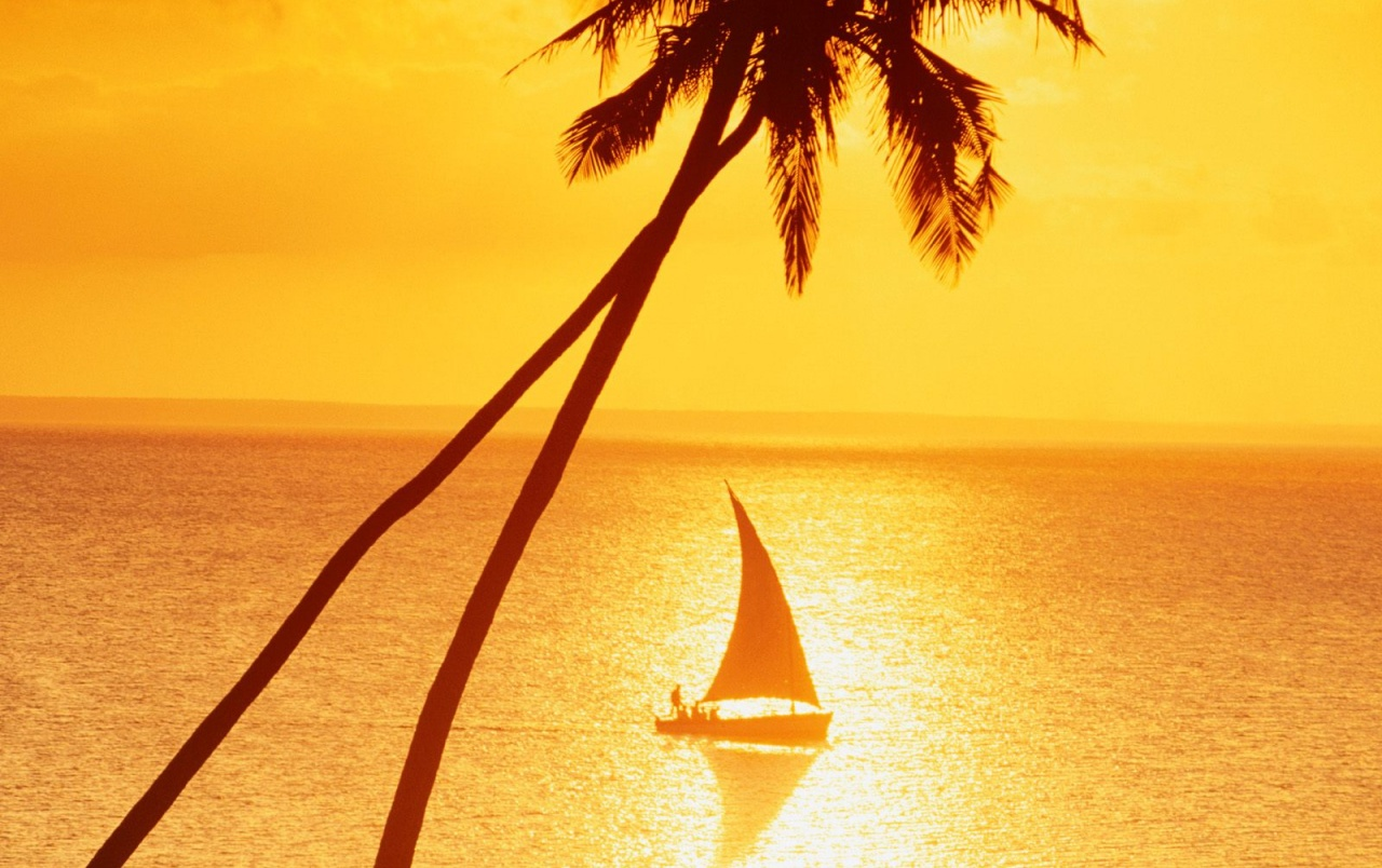 Sunset Sailing wallpapers