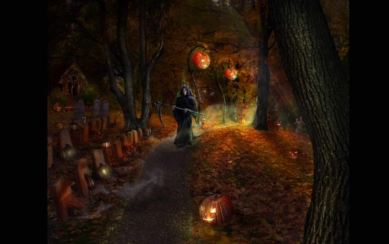Halloween cemetery wallpapers