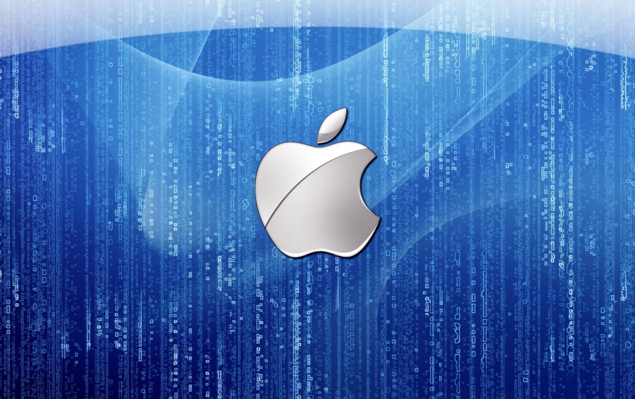 Blue Apple logo wallpapers