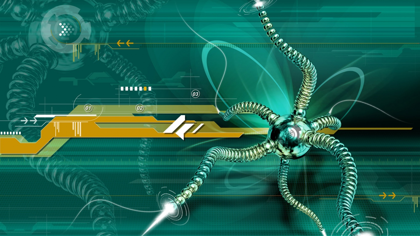 1366x768 web spider 3d desktop pc and mac wallpaper
