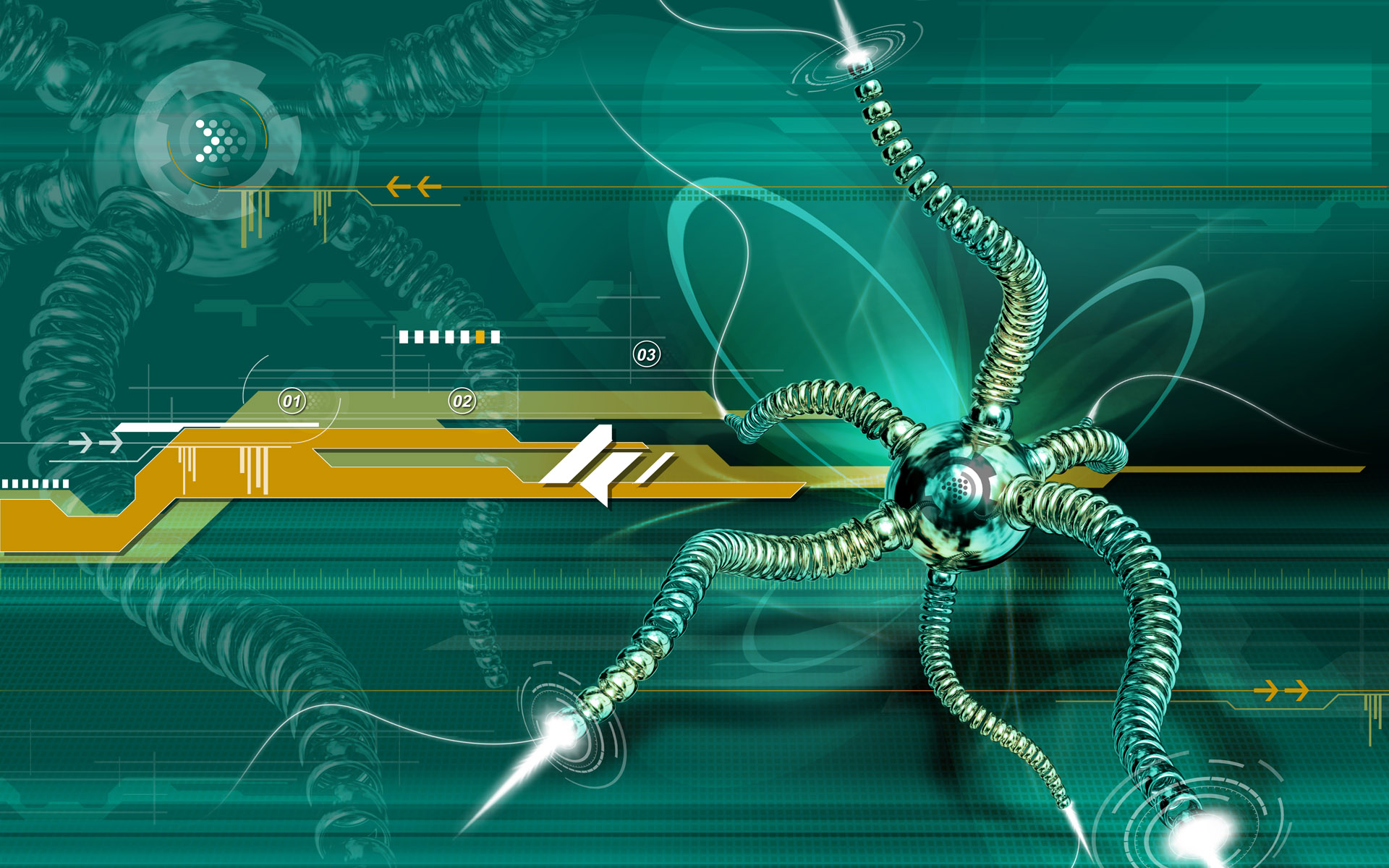 1920x1200 Web Spider 3D desktop PC and Mac wallpaper