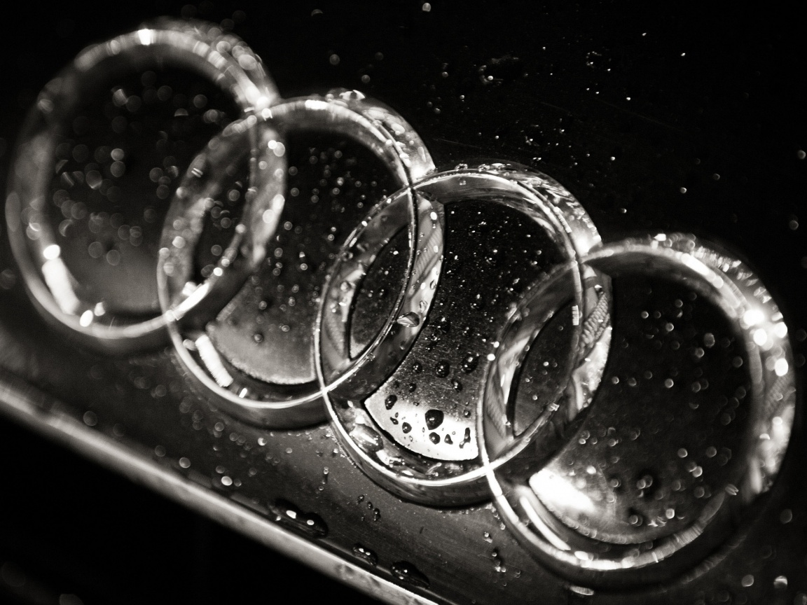 1152x864 Wet Audi logo, cars