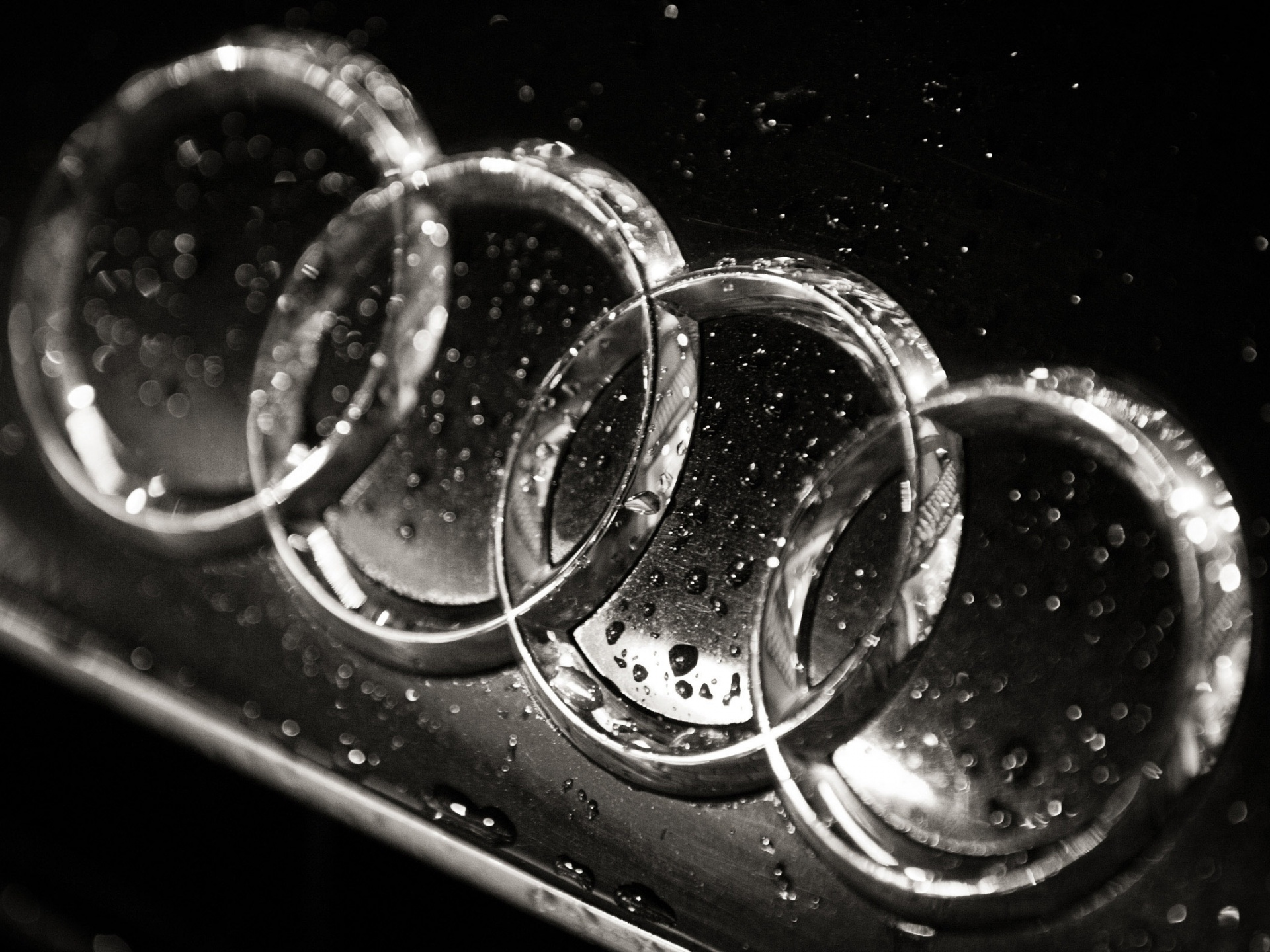 1920x1440 Wet Audi logo, cars