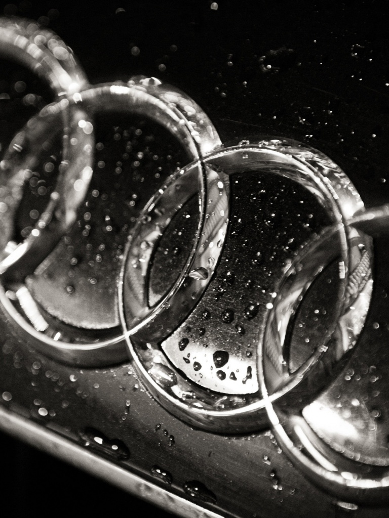 768x1024 Wet Audi logo, cars
