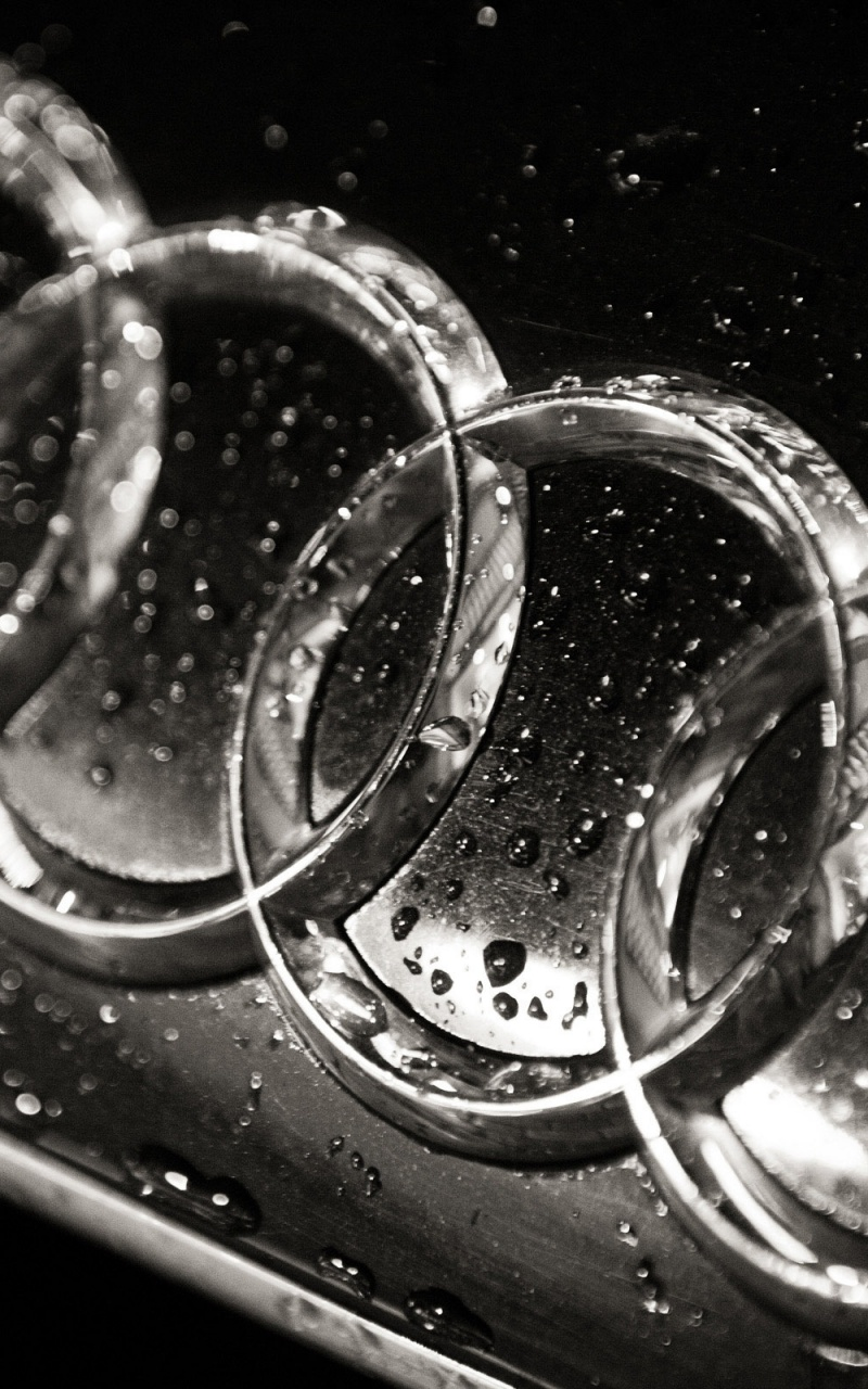 800x1280 Wet Audi logo, cars