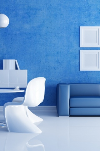 320x480 white blue interior iphone 3g wallpaper for Interior iphone x
