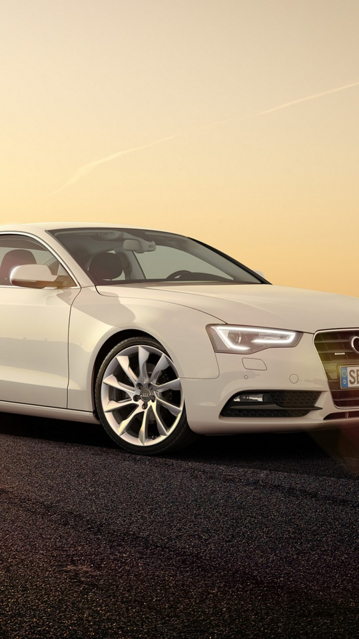 720x1280 White Audi A5 Coupe Side Angle Htc One X Wallpaper