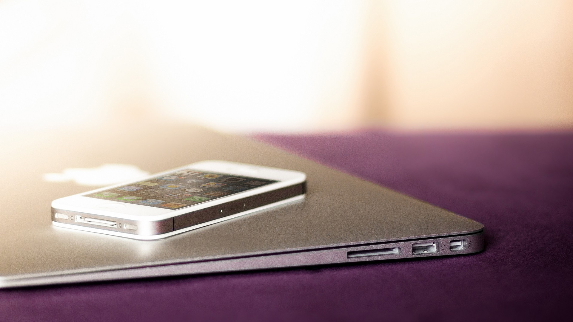 white iphone and macbook air wallpapers 34423 1920x1080