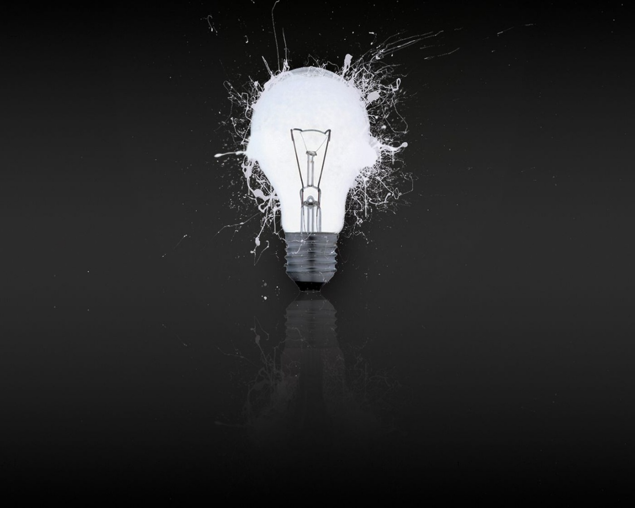 1280x1024 White light bulb desktop PC and Mac wallpaper