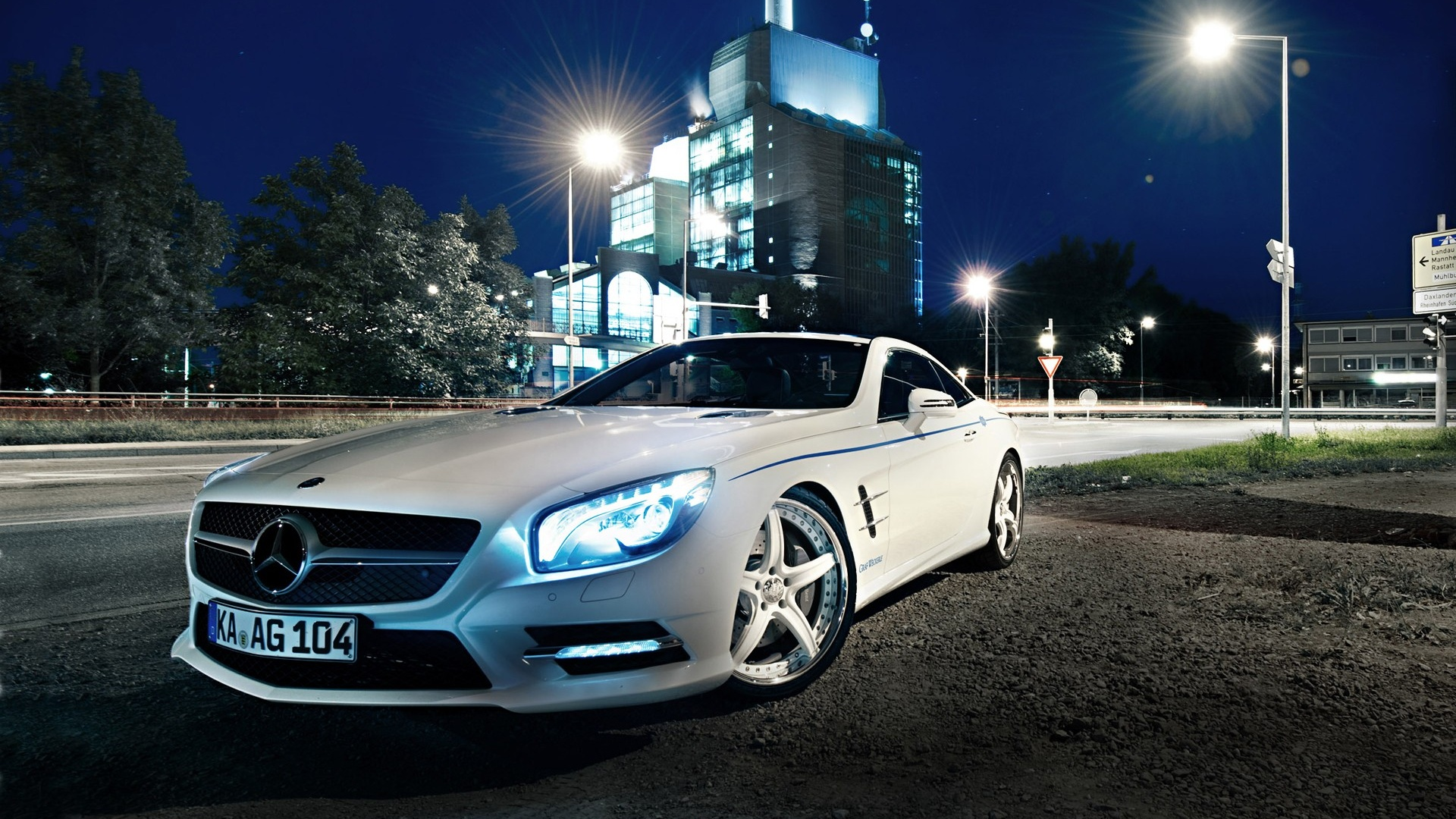 1920x1080 White Mercedes Sl Desktop Pc And Mac Wallpaper