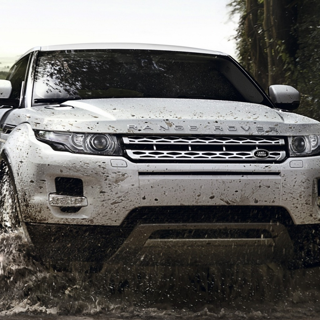 1024x1024 white range rover evoque off road desktop pc and mac wallpaper. Black Bedroom Furniture Sets. Home Design Ideas