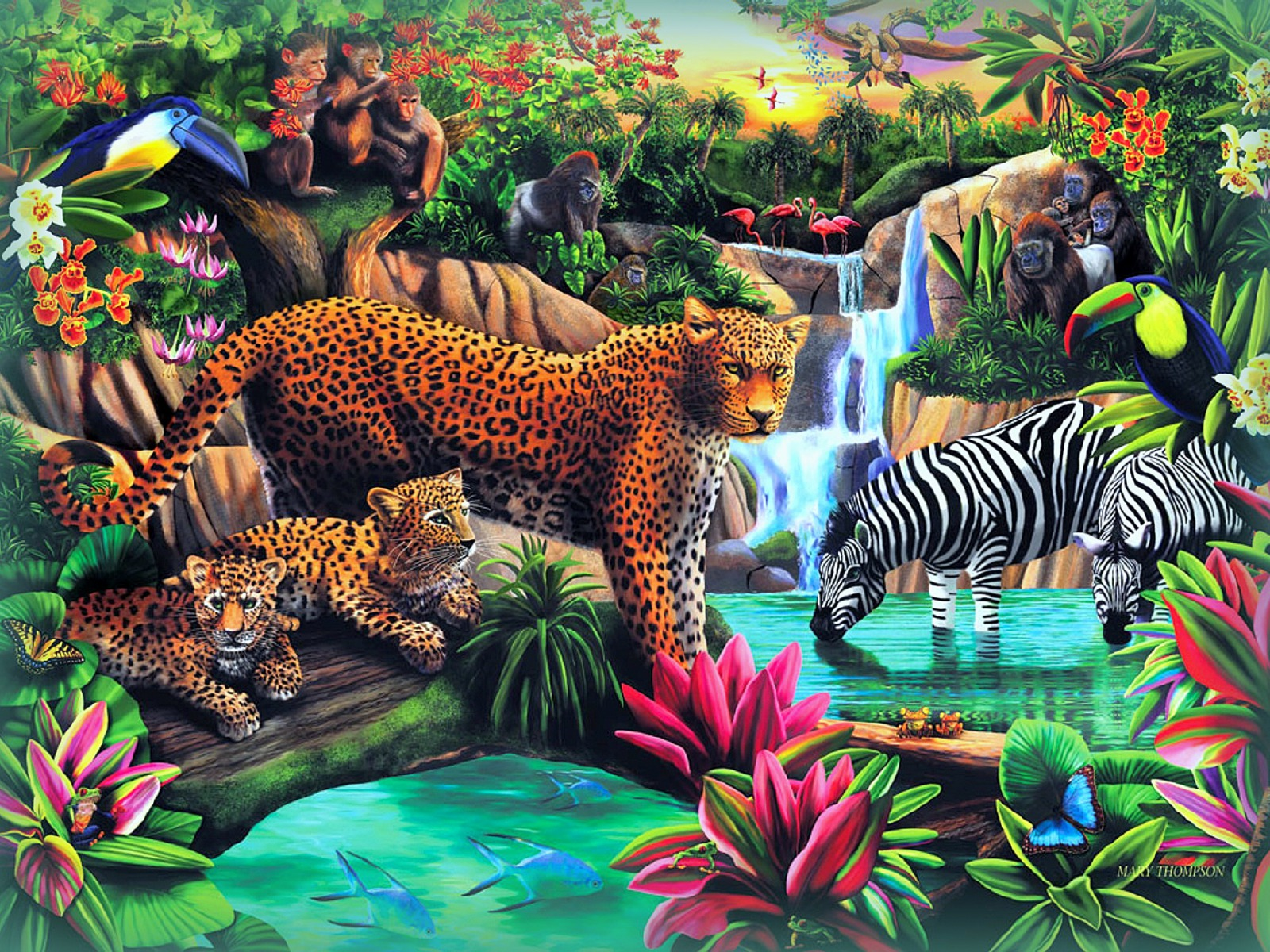 Wild Animals Paradise Wallpapers W46937