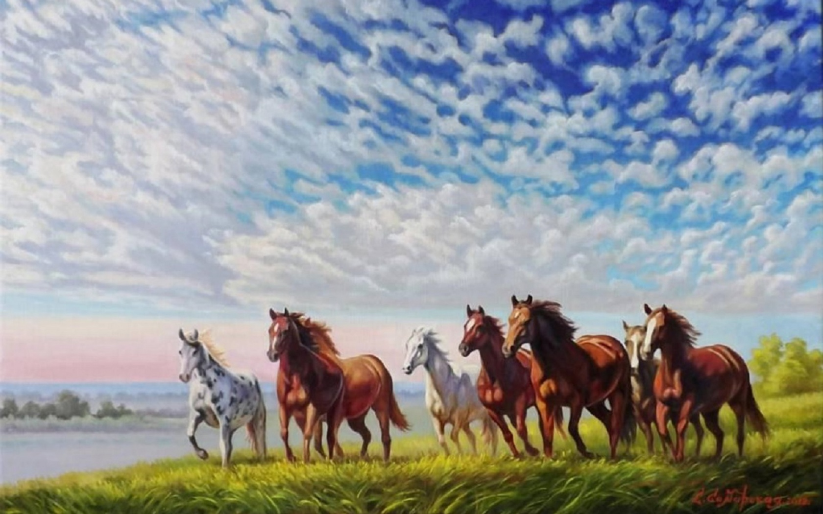 wild horses racing wallpaper - photo #39