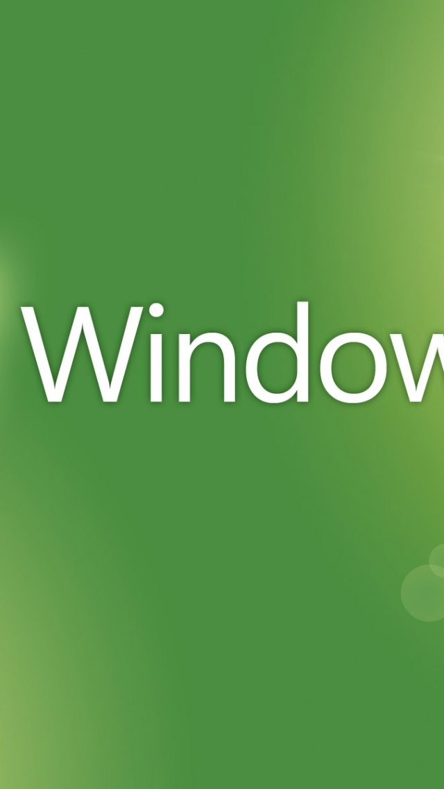 640x1136 Window 7, theme, green, seven