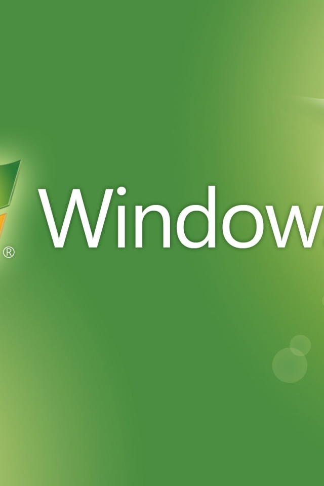 640x960 Window 7, theme, green, seven