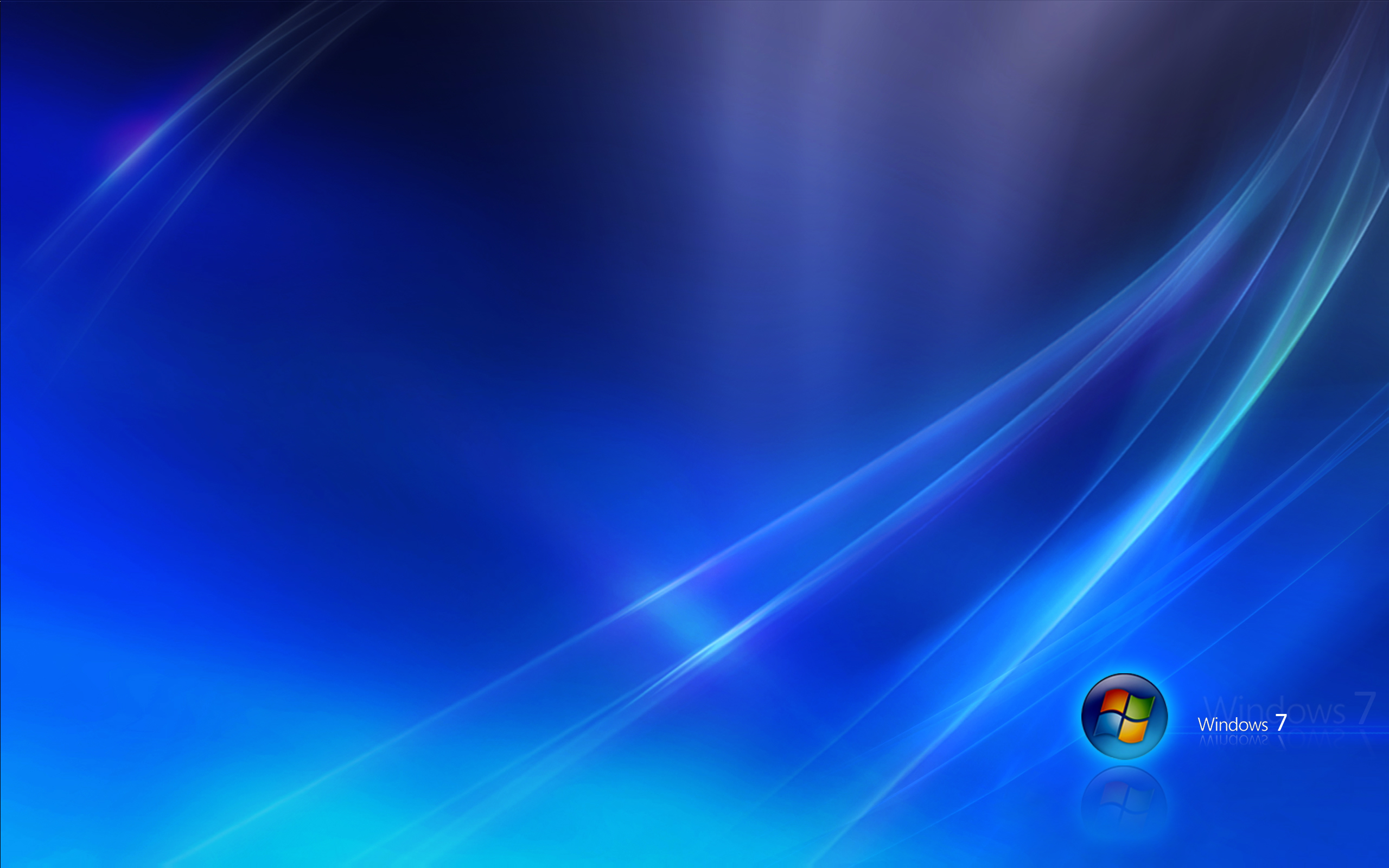 2560x1600 Windows 7 blue desktop PC and Mac wallpaper