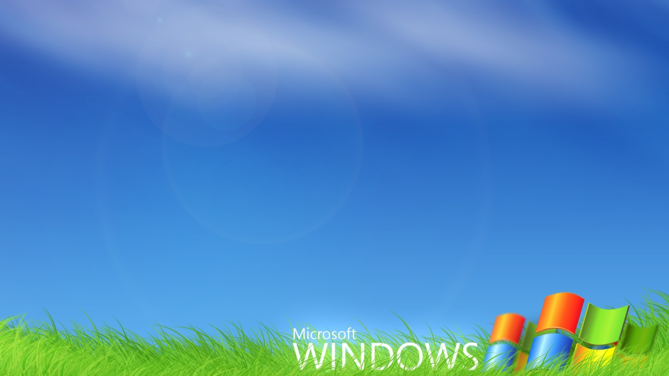 1366x768 Windows 7 Grass Desktop Pc And Mac Wallpaper