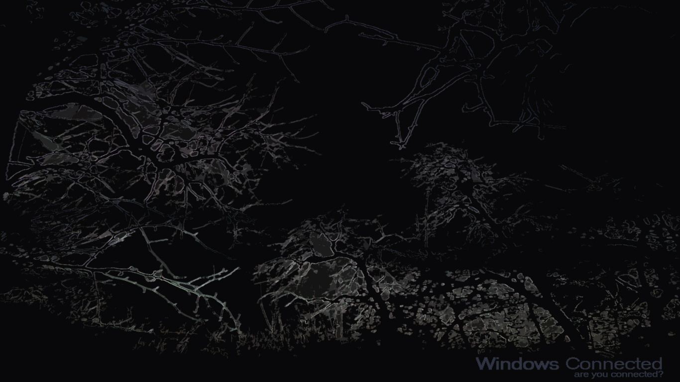1366x768 Windows Connected  Dark Shape desktop PC and Mac wallpaper
