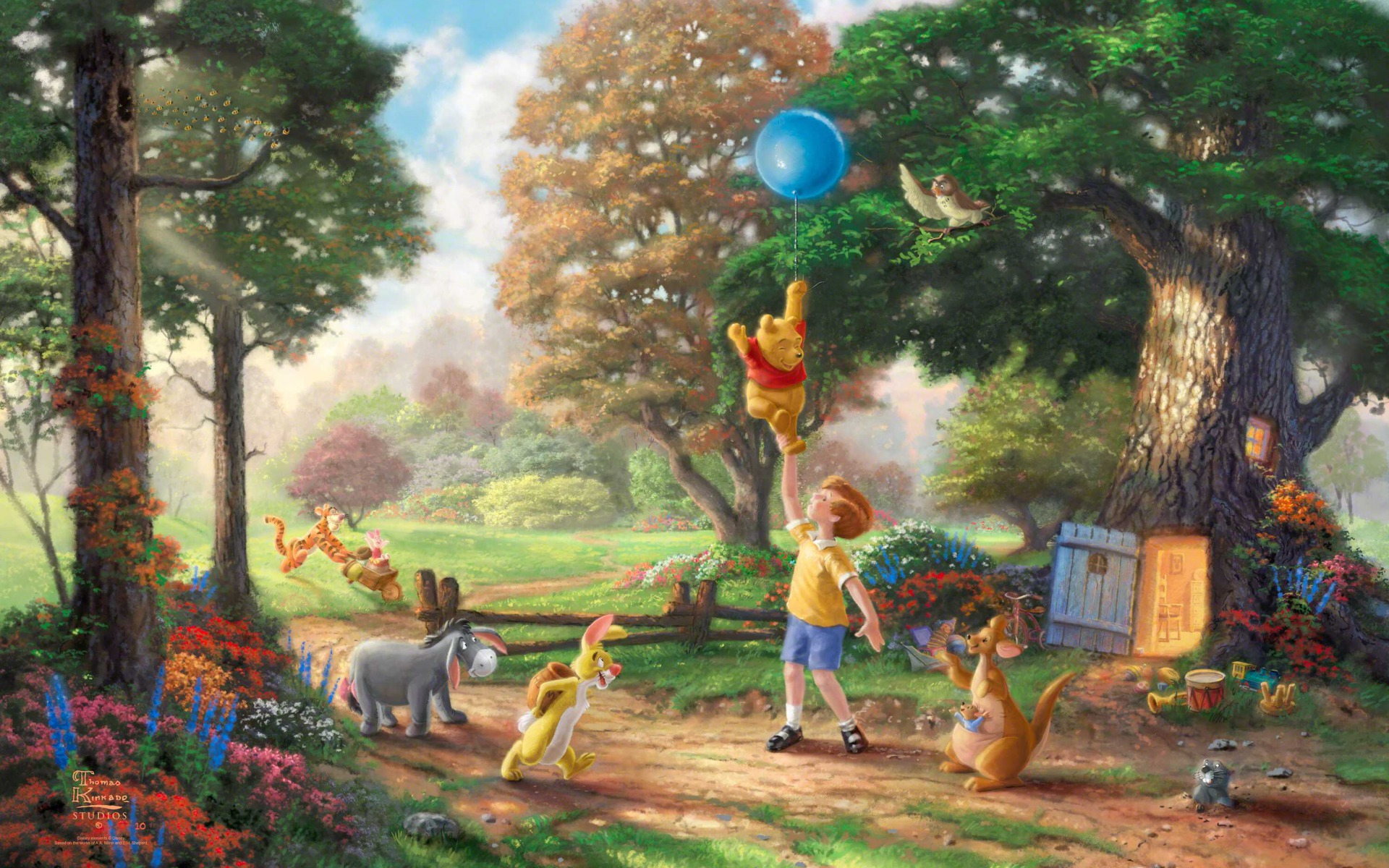 1920x1200 winnie the pooh balloon desktop pc and mac wallpaper voltagebd Image collections