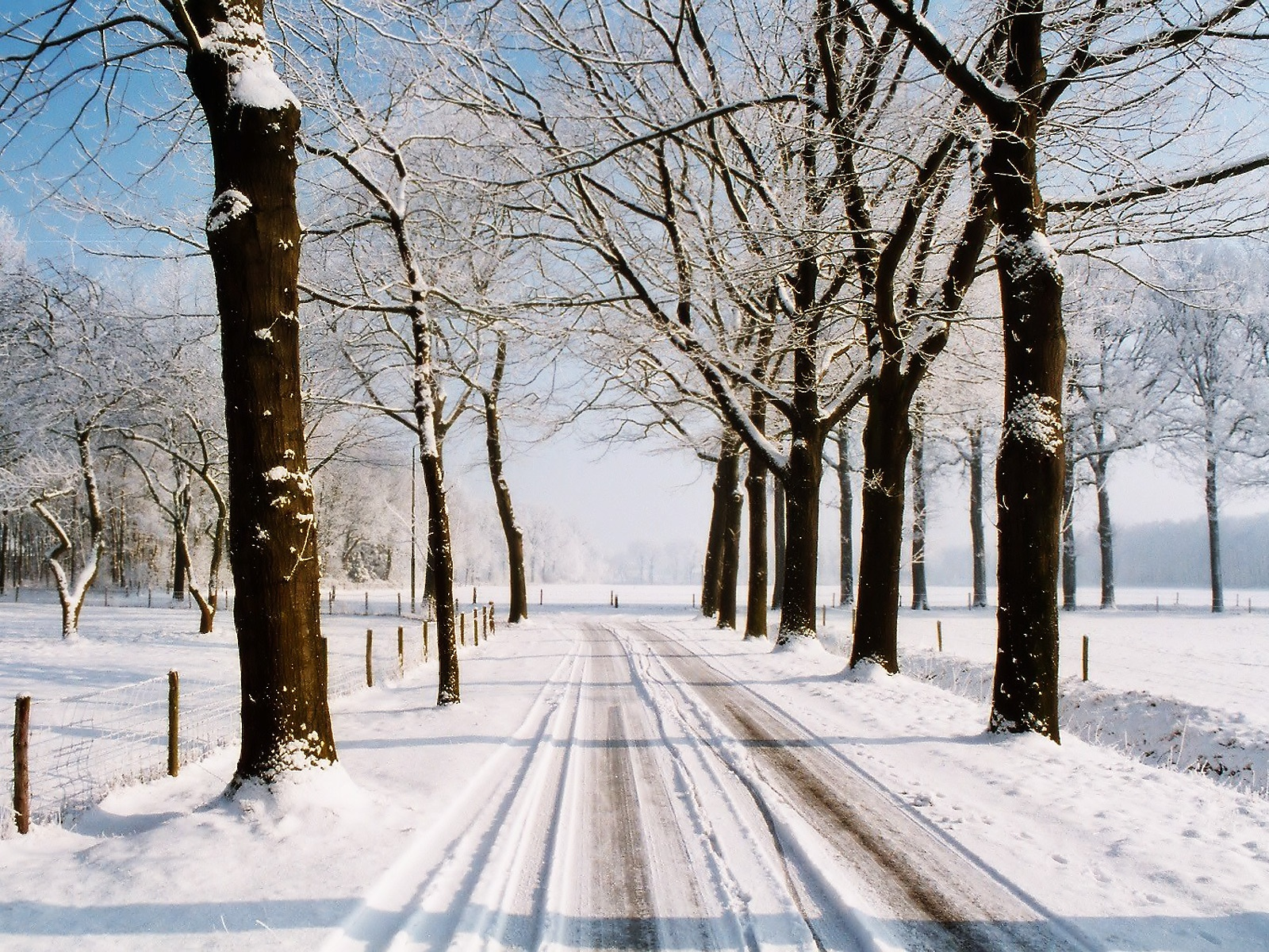 1600x1200 winter country road desktop pc and mac wallpaper