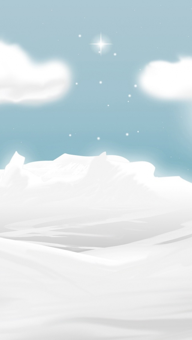 640x1136 Winter Illustration Iphone 5 Wallpaper